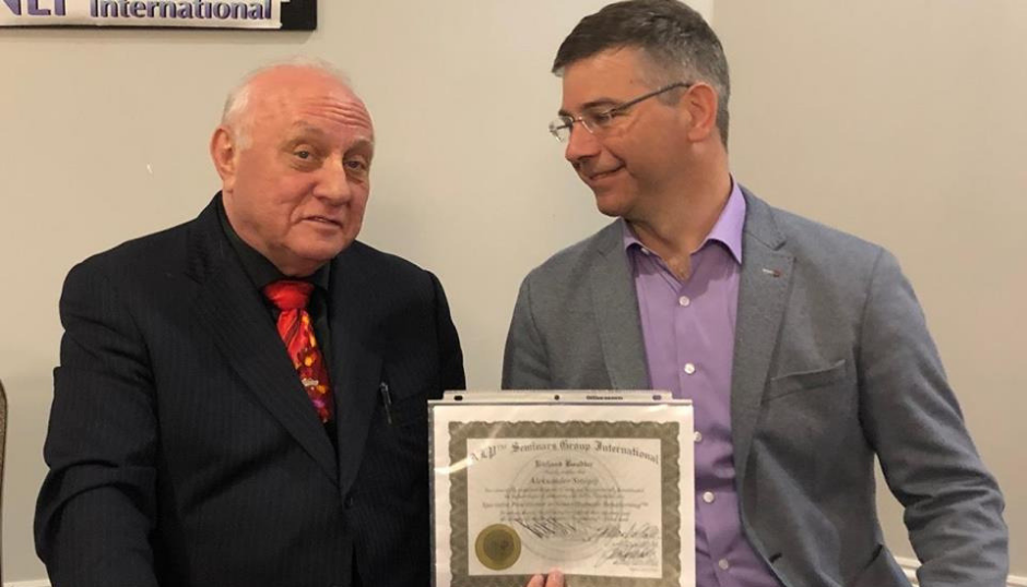 NHR certificate and connection to NLP Richard Bandler